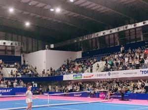 東レ パン・パシフィック・オープン(WTAプレミア/東京都立川市)に出場。