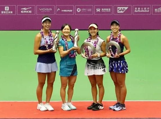 WTAツアー公式戦「天津オープン」女子ダブルスで準優勝!